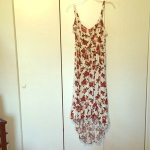 Torrid Size 2 White/Floral High Low Maxi Dress
